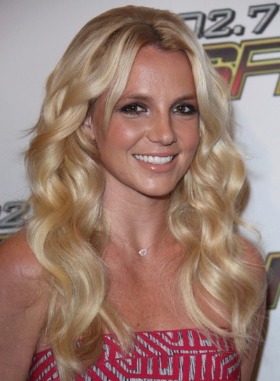 Britney Spears with beach waves
