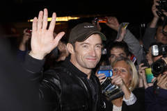 "Hugh Jackman arrives at the Broadhurst Theatre for his show ""Hugh Jackman, Back on Broadway"""