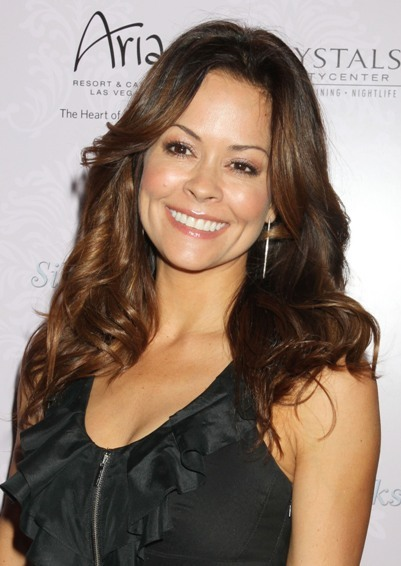 Brooke Burke's wavy, long hairstyle