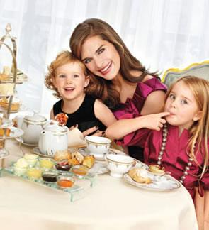 Brooke Shields tea party