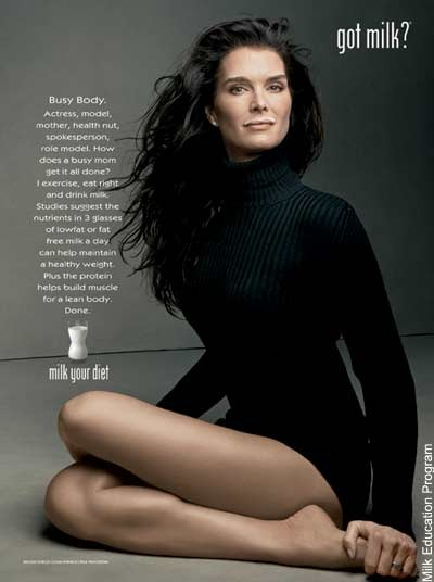 Brooke Shields milk