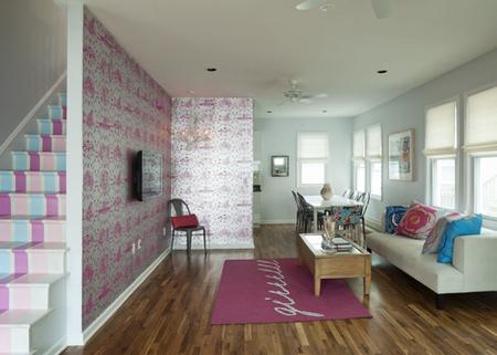 Brooklyn Beach House - Painted Staircase