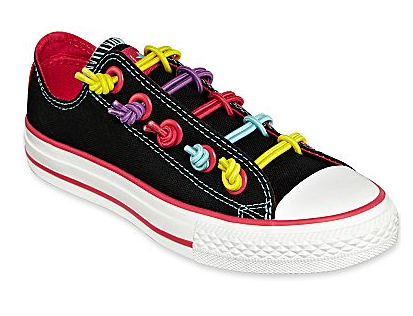 Girl's bungee knot sneakers
