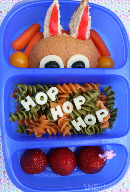Do The Bunny Hop bento box lunch