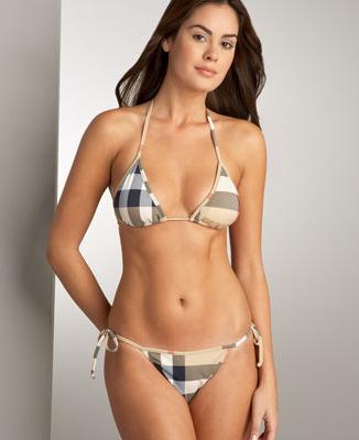 Burberry Check String Bikini