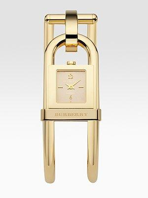 Burberry Goldplated Cuff Watch
