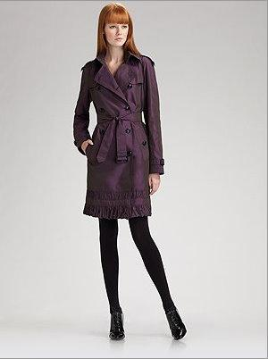 Burberry taffeta coat
