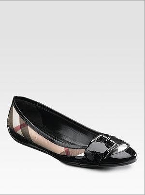 Burberry check flats