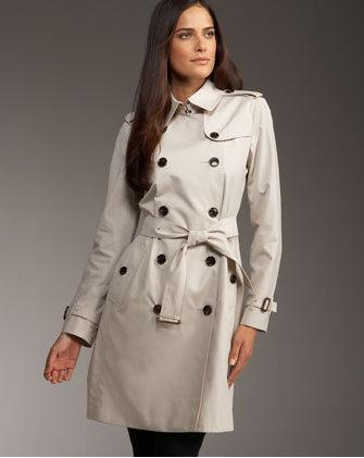 Burberry long poplin trench