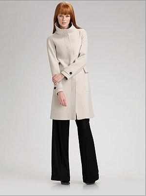 Burberry funnel neck coat