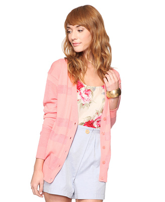 Forever 21 Burnout Panel Cardigan