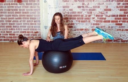 Bam Bams w/ an Exercise Ball : Step 2