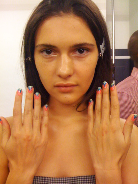 butter LONDON debuts the butter LONDON Ombre Nail at Yigal Azrouel's Cut25 presentation.