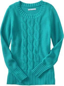 Cable-knit sweater in Endless Summer