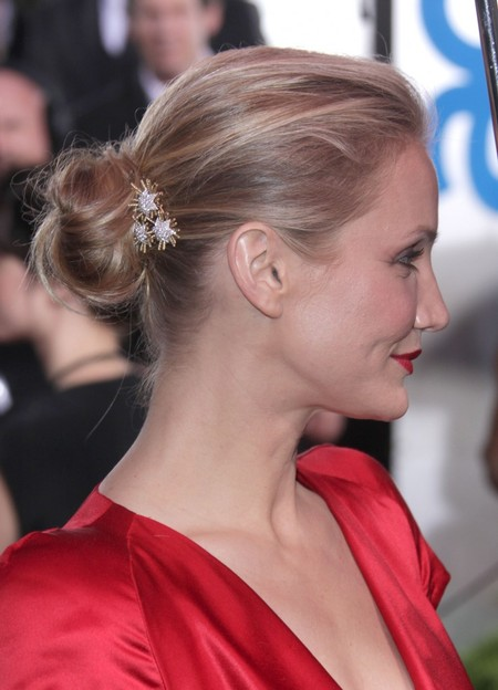 Cameron Diaz&#039;s Knotted Bun