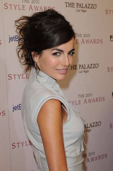 Camilla Belle's Messy Rockstar Look