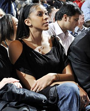 Candace Parker at an NBA Game