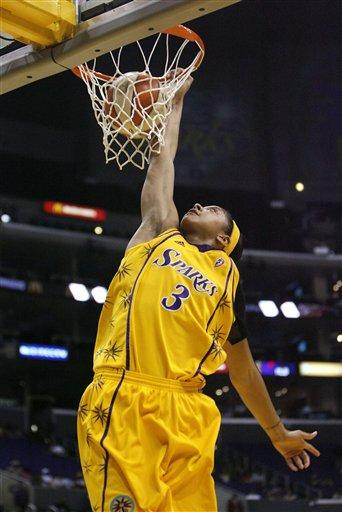 Candace Parker Dunking a Basketball