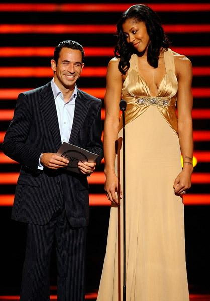 Candace Parker and Helio Castroneves