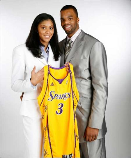 Candace Parker Holds her Jersey