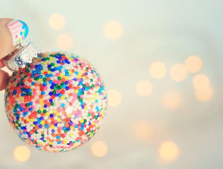 DIY candy sprinkles ornaments