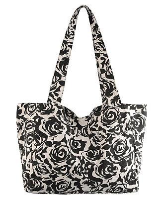 Canvas Rose Shoulder Bag