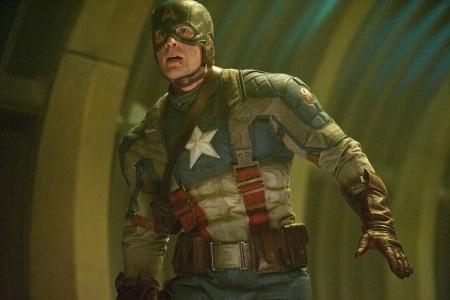 Chris Evans as Captain America...saving the world!