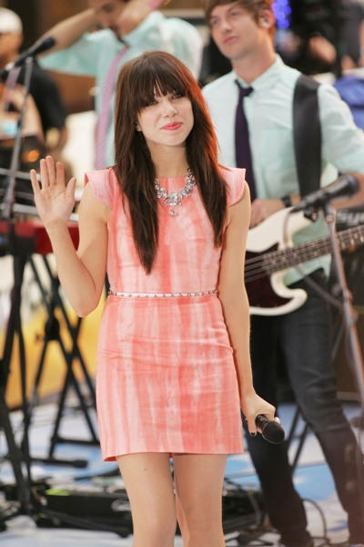 Carly Rae Jepsen performs on the Today Show