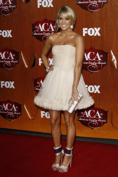 Carrie Underwood in a white dress