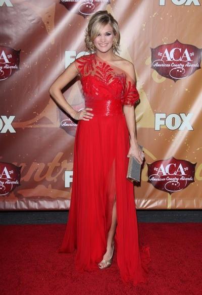 Carrie Underwood in red lace