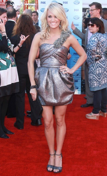Carrie Underwood in metallic mini