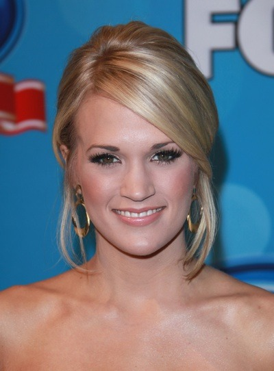 Carrie Underwood's sleep hairstyle