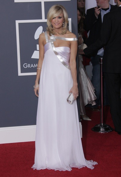 Carrie Underwood in a-symmetrical gown