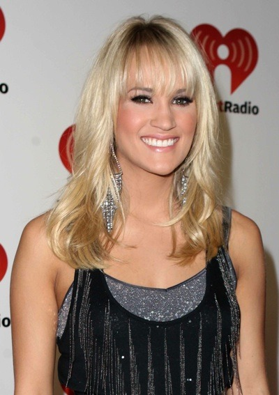 Carrie Underwood with bangs