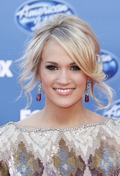 Carrie Underwood with loose up-do