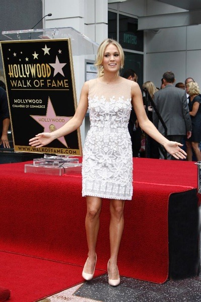 Carrie Underwood in lace