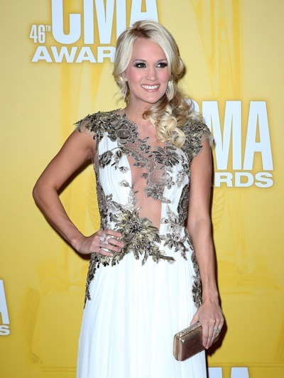 Carrie Underwood in flowered gown