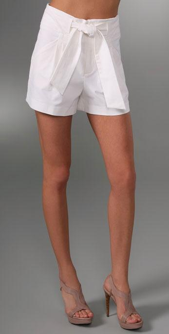 Catherine Malandrino Pleated Shorts