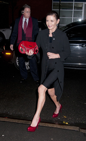 Catherine Zeta Jones arrives at Marty Richards 80th birthday party in NYC
