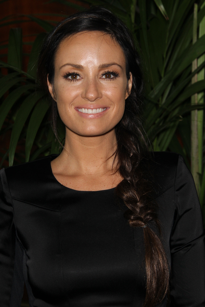 Catt Sadler's side swept braid hairstyle
