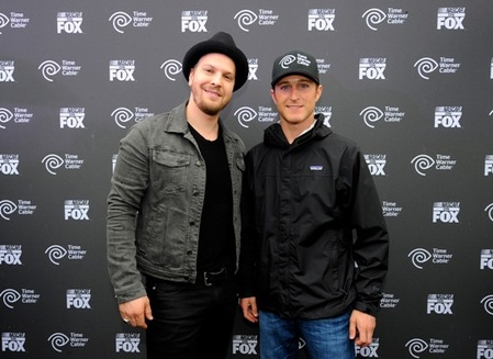 Gavin DeGraw and Kasey Kahne