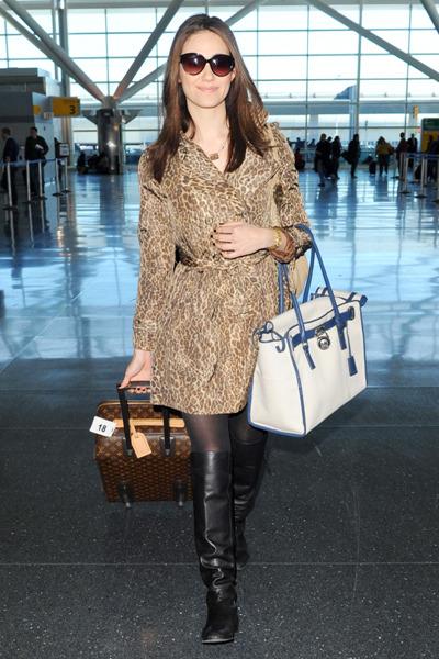 Emmy Rossum is wild about Jane Post's leopoard print jacket.