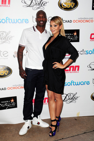 Chad Ochocinco and his fiancee Evelyn Lozada