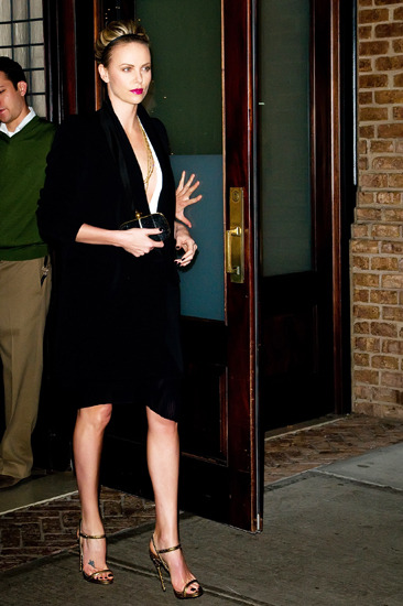 Charlize Theron leaves her Manhattan hotel