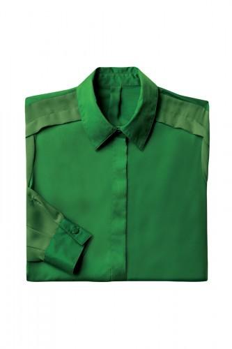 Green charmeuse chiffon