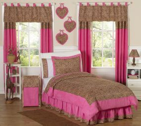Cheetah Bedding Girls Comforter Set