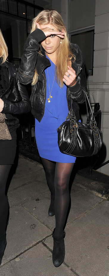 Chelsy Davy leaving a nightclub in London