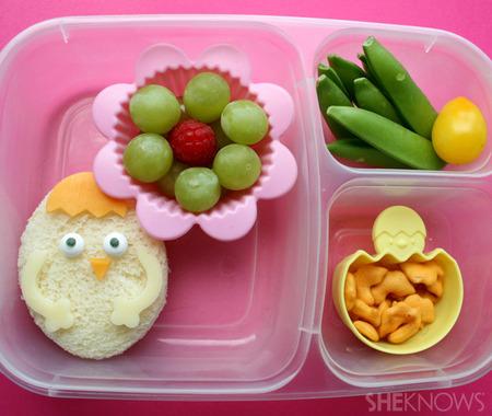 Chickadee bento box lunch