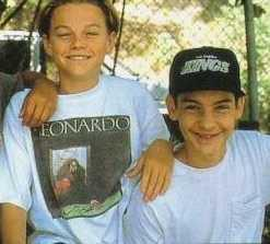 A childhood photo of Leonardo DiCaprio and Tobey Maguire