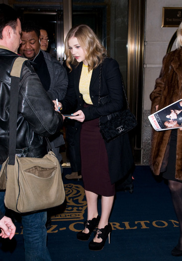 Chloe Moretz outside of her Manhattan hotel